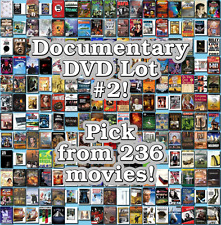 Documentary DVD Lot #2: 236 Movies to Pick From! Buy Multiple And Save!