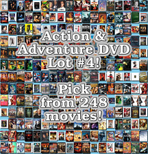 Action & Adventure DVD Lot #4: 248 Movies to Pick From! Buy Multiple And Save!