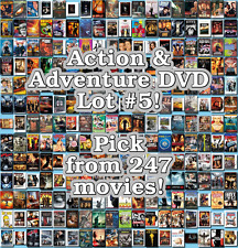 Action & Adventure DVD Lot #5: 247 Movies to Pick From! Buy Multiple And Save!
