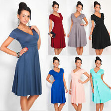 Pleated Short Sleeveless Party Dress Evening Cocktail Casual Dress Womens A6026