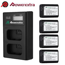 NP-FW50 Li-ion Battery+LCD Charger For Sony Alpha 7R A7r NEX-7 A6000 A3000 A6300
