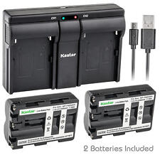 NP-FM500H Battery&Dual Slim Charger for Sony DSLR-A550H A550L A550Y A560 A580