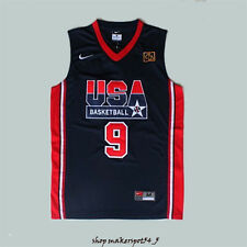 #9 Michael Jordan 1992 USA Dream Team Olympic Basketball Jersey Navy USA
