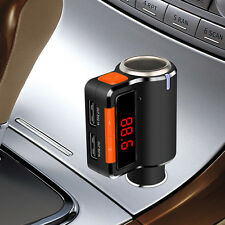 Car Kit Dual USB Charger Handsfree Bluetooth FM Transmitter MP3 Player Sweet