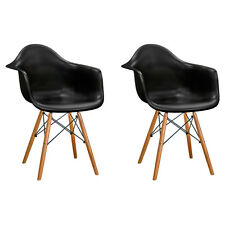 New Mid-Century Eiffel Arm Chairs with Wood Legs (Free Shipping)