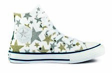 CONVERSE shoes SNEAKERS BABY 75-35-6838C WHITE-SILVER-GOLD STARS PE1