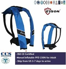 CE Certified Life Saving Jacket Neck Vest Manual Inflatable 150N Eyson for Adult
