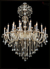large antique church Led chandelier ceiling lamp cognac crystal pendant lighting