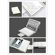 Folding Leather Case for Apple iPad Mini 2/3/4 Wireless Bluetooth Keyboard White