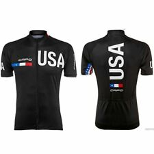 Black USA CAPO Cycling Jersey Bike Ropa Ciclismo MTB Maillot