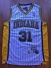NBA Indiana Pacers Reggie Miller Throwback Classic Sewn/Stitched White Jersey