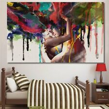 LARGE FRAMED Abstract Couple Canvas Print Painting Pictures Home Wall Art Decor