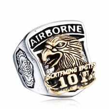 Airborne 101st Ring US Army Eagle 316L Stainless Steel Men's Military