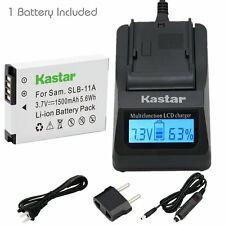 SLB-11A Batter & Fast Charger for Samsung HZ25W EX1 CL80 CL65 WB2000 WB1000