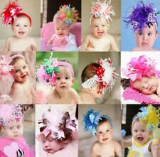 Infant Baby Headband Toddler Girl Down Feather Headwear Head Bow Piece Flower