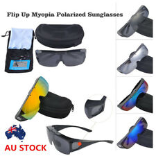 Flip Up Myopia Polarized Sunglasses Cycling Driving Outdoor Sport Goggle Glasses