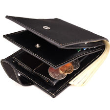 Mens Leather Credit Card Holder TRIFOLD Wallet Bifold ID Cash Coin Purse Clutch
