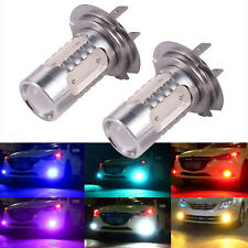 2pcs H7 COB LED 6000K Car Auto Driving Fog Light Bulb Headlamp Super Bright 7.5W