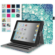 Multi-Angle Folio Stand Case Smart Cover Corner Protection for Apple iPad 2/3/4