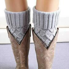 Boot Women Knit Cuffs Leg S Warmers Lace Topper Crochet Socks Toppers Trim Cuff