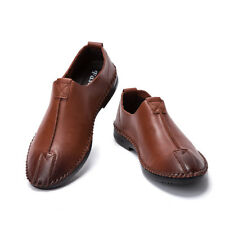 2017 Casual Leather Slip Ons Loafers Flats Mens Comfort Soft Dress Formal Shoes