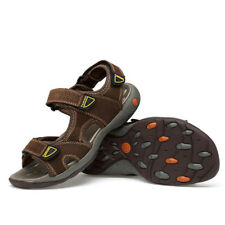 Big Size UK5-11 Leather Sport Sandals Lightweight Mens Casual Summer Shoes