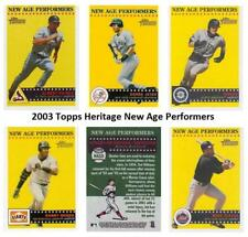 2003 Topps Heritage New Age Performers Baseball Set ** Pick Your Team **