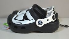 NWT YOUTH KIDS CROCS STAR WARS STORMTROOPER CLOGS SLIP ON SHOES SZ C6-J3