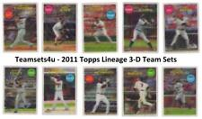 2011 Topps Lineage 3-D Baseball Set ** Pick Your Team **