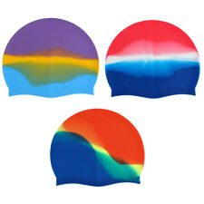 Adult Silicone Dome Shaped Elastic Non-slip Water Resistant Swimming Cap Hat