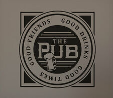 Pub Good Friends Drinks Times Beer Bar Man Cave Vinyl Wall Graphic Decal Stencil