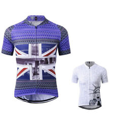 Men's Short Sleeve Cycling Jersey Breathable Full-zipper Comfortable Cycling Top