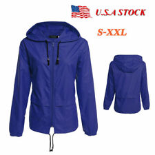 Waterproof Windproof Jacket Mens Womens Hiking Hooded Sports Rain Coat Outdoor