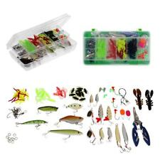 101pcs/set Fishing Tackle Set Kit Mixed Lure Baits Barbed Hooks Line Cutter