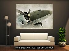 Wall Art Canvas Print Picture Old Propeller Airplane Fly Engine-Unframed