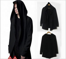 Fashion Men's Avant-Garde Dark Punk Hood Charcoal Hot Cape Cardigan Jacket tops