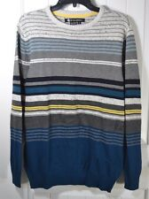 NEW MENS BILLABONG STRIPED CREW NECK LONG SLEEVE PULLOVER SHIRT SWEATER SZ S