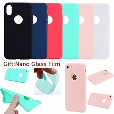 FILM+CUTE SKINNY CANDY PASTEL SOFT RUGGED Silicon GEL Back Case Cover For iPhone
