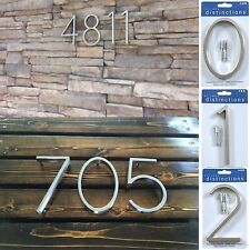 House Address Numbers Door Metal Sign Digits A Stylish Design Modern Home Look