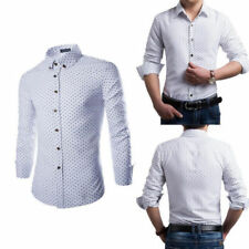 Hot Luxury Mens Long Sleeve Casual Slim Fit Shirt  Stylish Dress Shirts Tops w