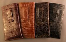 Marvelous Quality leather embossed croco pattern - Eyeglass / Glasses Case/ CLIP