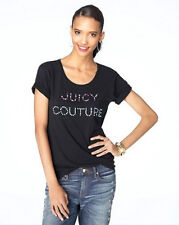 JUICY COUTURE WOMEN'S  STACKED BLING COUTURE TEE SIZE SMALL