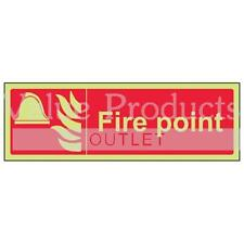 VSafety Glow In The Dark Photoluminescent Fire Point Equipment Sign