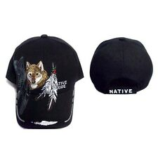 Wolf & Feathers Native Pride Baseball Caps  Embroidered  (CapNp366*)