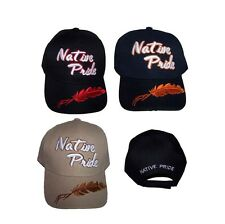Feather Native Pride Baseball Caps Embroidered  (ECapNp610*)