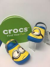 Crocs Funlab ' Minions' Glow in the Dark Clogs in Ocean and Yellow