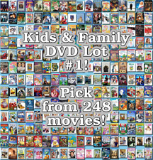 Kids & Family DVD Lot #1: 248 Movies to Pick From! Buy Multiple And Save!