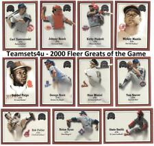 2000 Fleer Greats of the Game Baseball Set ** Pick Your Team **