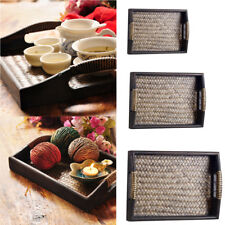 MagiDeal Wooden Rustic Shabby Chic Rectangular Serving Lap Tea Snack Tray
