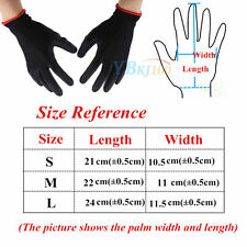 Protect S M L 12/24 Pairs Nylon PU Safety Coat Work Gloves Builders Palms